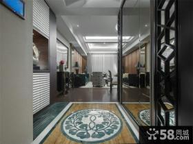 中式设计室内玄关图片大全