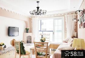 简欧设计装修室内客厅电视背景墙图片大全