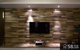 后现代设计电视背景墙装饰效果图片