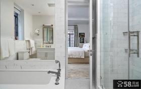 90平米两室两厅卧室卫生间装修效果图