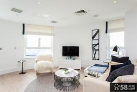 简单室内装修客厅电视背景墙图片