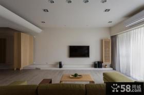 日式风格客厅背景墙设计家居效果图