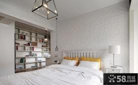 白色北欧卧室装修2015