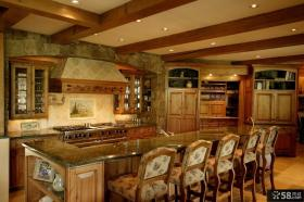 美式田园风格家居厨房装修图