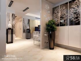 现代风格客厅隔断屏风装修效果图大全