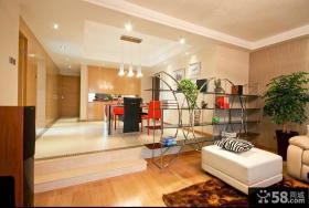 现代简约风格客厅置物架装修效果图