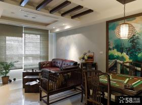 中式风格客厅创意吊顶设计