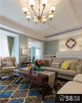 78平方美式一居室装修样板房效果图