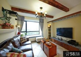 美式复古风格客厅装修效果图片