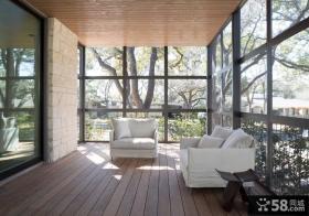 家居生活大阳台地板装修