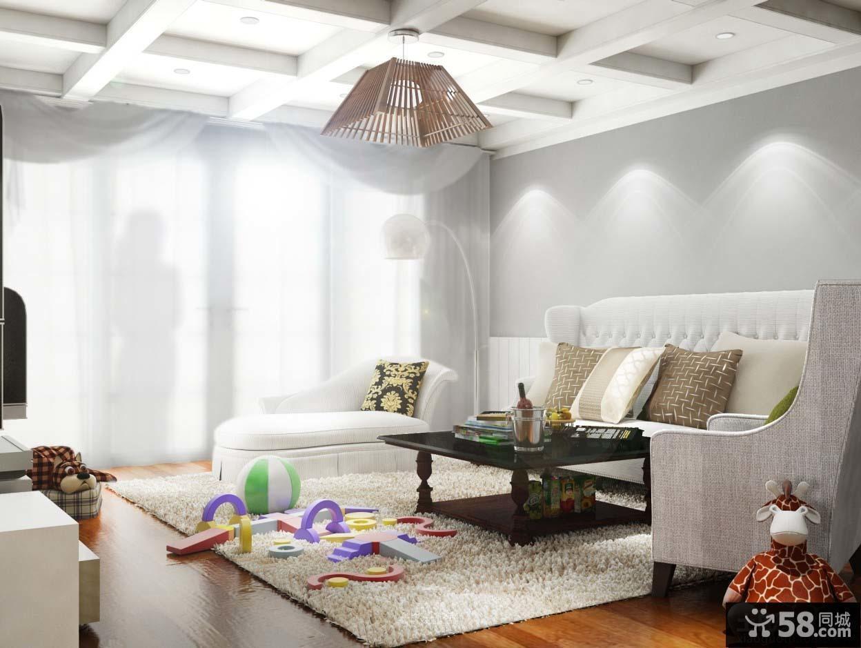 简欧风格装修效果图客厅设计图片