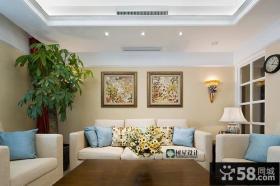 田园风格客厅装饰布置效果图