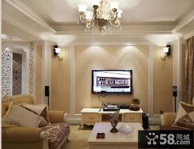 简约欧式电视背景墙装修效果图大全