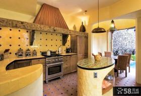 地中海风格厨房整体橱柜装修图片