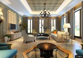 美式风格室内休闲区设计图片