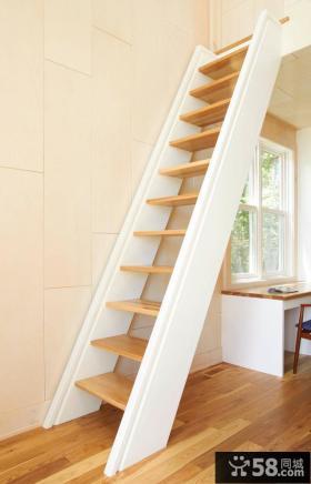现代阁楼楼梯设计效果图