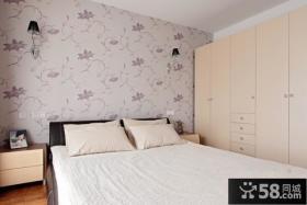 卧室床头精美壁纸装修效果图片