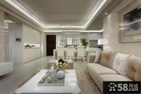 现代美式家装客厅吊顶装修图