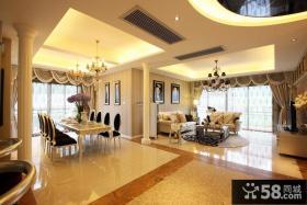 新古典风格复式楼高档装修室内客厅餐厅设计