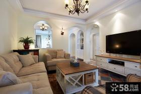 简约地中海风格别墅室内设计效果图