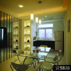 现代风格开放式厨房餐厅装修效果图片