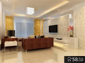 简约客厅电视背景墙造型