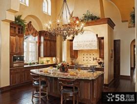 欧式厨房整体橱柜装修图片