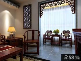 现代中式家居阳台