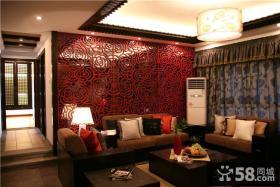 现代中式小户型客厅装修效果图大全
