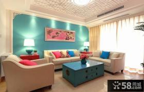 新中式风格客厅家具布置效果图片