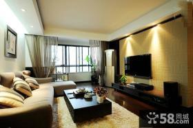 现代风格家庭客厅电视背景墙装修图片