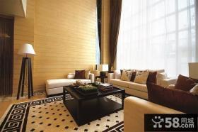 中式现代别墅客厅装修效果图