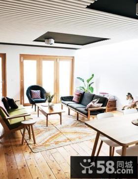 北欧简约复式家居装饰效果图片