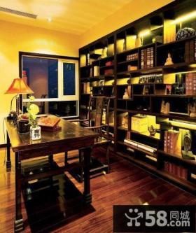 中式黑檀古典书房设计