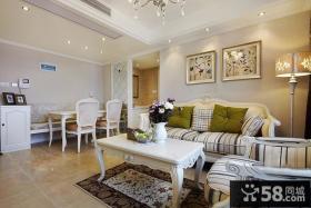 欧式风格二居室客厅装修图