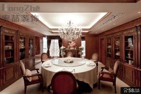 欧式古典风格餐厅装修吊顶效果图
