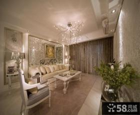 家装客厅沙发背景墙装饰效果图片