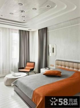 现代简约样板房设计卧室效果图