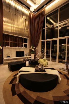 别墅客厅圆沙发装饰图片