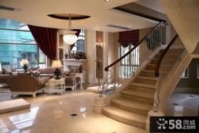 欧式别墅楼梯扶手效果图