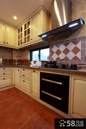 美式风格家居小厨房装修效果图