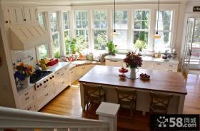 别墅开放式厨房样板间效果图欣赏