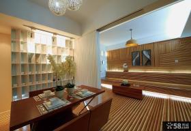 中式风格120平米三居室设计效果图大全