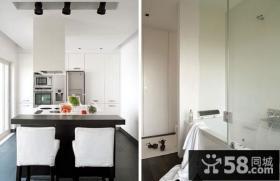 45平米小公寓厨房装修效果图大全2014图片