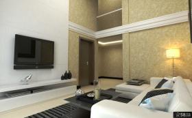 现代客厅电视背景墙装饰效果图欣赏