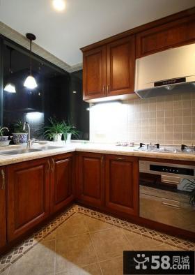 美式乡村家庭厨房装修图片