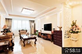 欧式一室一厅客厅装修效果图欣赏
