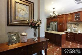 美式风格设计室内厨房图大全欣赏