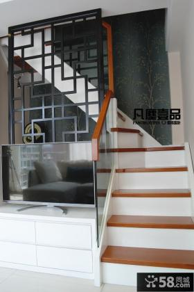 简约风格小复式楼楼梯效果图