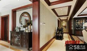 美式客厅过道吊顶装饰设计图
